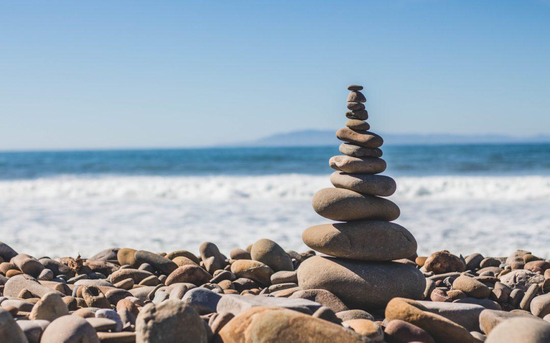 in Balance kommen